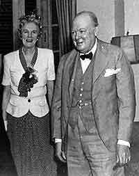 Winston Churchill and Wife at the Ncaional